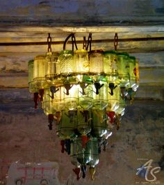 LOVE this .....recycled siphon bottles chandelier ! .How much cool ...