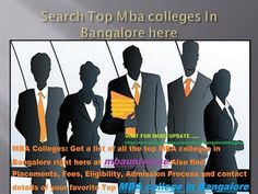 Top MBA Colleges in Bangalore: Search top MBA Colleges in Bangalore on http://www.mbauniverse.com/college/bangaloremba.php. Find Fees, Cutoff, Placements, Eligibility, Admission Process, Rank and Contact Details of Top MBA College in Bangalore