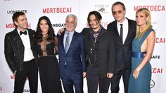Moustaches Rule at Premiere of Johnny Depp's 'Mortdecai'