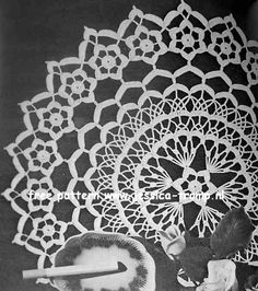 Daisy Ring doily free vintage crochet doilies patterns
