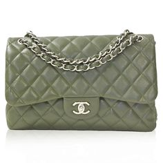 Chanel Army Green Caviar Jumbo Double Flap Bag http://www.consignofthetimes.com/product_details.asp?galleryid=7803