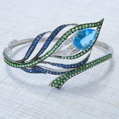 Gemstone Peacock Bracelet