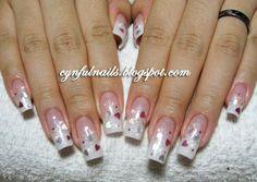 Glitter Acrylic Nail Designs | perfect nails to have for a set of nail extension long slender nail ...