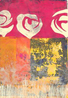 Henri Matisse trifft Gelli Plate... I never promised you a rose-garden von Anne Rehorn