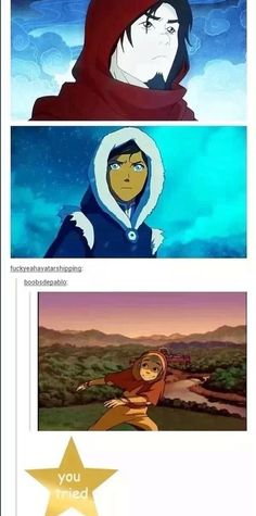 Legend of Korra/ Avatar the Last Airbender: nailed it