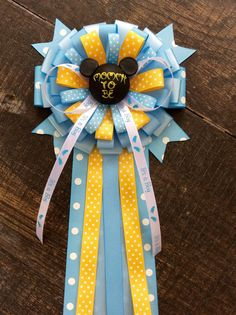 Baby Mickey Mouse mommy pin- Mickey Mouse baby shower- Mickey Mouse baby shower- mommy to be pin- blue Mickey mouse corsage Mickey Mouse Baby Shower, Mickey Mouse Head, Mickey Mouse Club, Baby Mouse, Baby Shower Themes, Baby Boy Shower, Baby Shower Decorations, Baby Shower Gifts, Shower Ideas