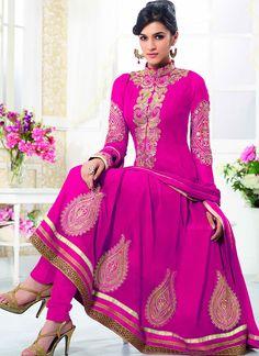#Kirti #Sanon #Hot #Pink #Georgette #Party #Wear #Designer #Anarkali #Suit #BollywoodDress #BollywoodKameez #BollywoodAnarkaliSuit #AnarkaliDress #LongDress #EmbroideryAnarkaliSuit #Sale #NominalPrice
