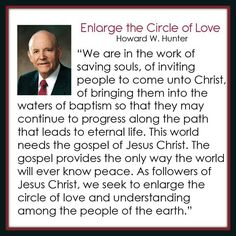Enlarge the circle of love