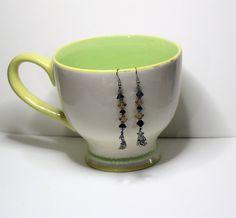 Glass Beads,Dangle Earrings,handmade,jewelry, women's apparel,earring,earrings,beaded jewelry,monkey,monkey earrings,monkey charms, by MinarciksFineArt on Etsy