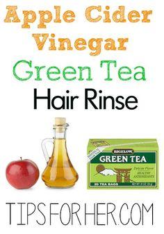 Apple Cider Vinegar Green Tea Hair Rinse - Promote Hair Growth, Restore Shine & Remove Product Buildup