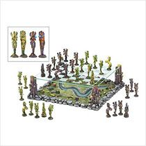Fairy and Unicorn Fantasy Theme Chess Set with Matching Chessboard