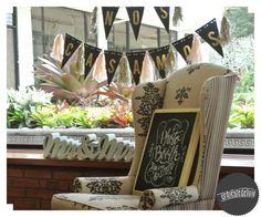 Pizarra con mensaje en caligrafía ~ Photo Booth