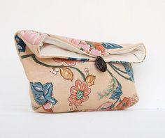 Makeup Bag Floral Clutch Purse Bridesmaid Gift by EdensWake, $16.00