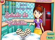 Cocina de Sara Helado Vainilla | juegos de cocina - jugar online