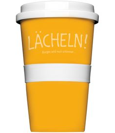 """Rannenberg """"Coffee To Go Becher"""" """"Lächeln""""  Becher Reise Büro Porzellan   - 2-flowerpower"""
