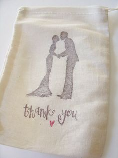 Handstamped Wedding Couple Silhouette and by ScenicWoodsPaperie, $20.00