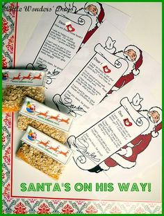 1000 images about santa on pinterest letter from santa for Personalized letter from santa with reindeer food