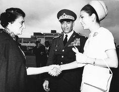Gandhi meeting with Shah of Iran Mohammad-Reza Pahlavi and Queen Farah Pahlavi