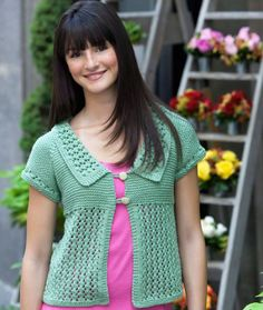 Sweet yet sophisticated, the Angel Lace Cardigan is a stylish option for mild weather. This darling knit cardigan pattern features a trellis lace body and garter stitch yoke. Knitting Designs, Knitting Patterns Free, Knit Patterns, Clothing Patterns, Free Pattern, Summer Cardigan, Lace Cardigan, Cardigan Pattern, Green Cardigan