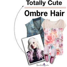 How To Wear Totally Cute - Ombre Hair Outfit Idea 2017 - Fashion Trends Ready To Wear For Plus Size, Curvy Women Over 20, 30, 40, 50