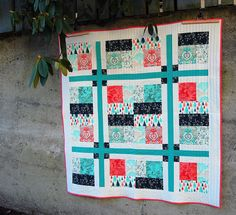 Parterre Quilt made with Prince Charming fabric by Tula Pink | Echinops & Aster