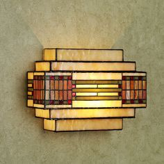 Sierra Vista Stained Glass Wall Sconce...would look great with my dining room table