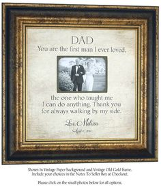 Father of the Bride Wedding Gift for Father,The First Man I Ever Loved, Wedding…