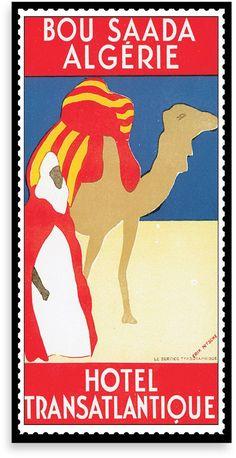 Algeria Vintage Travel Printed Canvas Wall Art