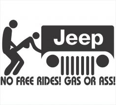 No Free Rides Jeep Decal