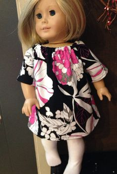 """Cuteness in Pink n Black Mach Madness American Girl Dress. Fits 18"""" Dolls  on Etsy, $5.00"""