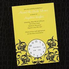 Around the Clock - Shower Invitation - Bright White weddingneeds.carlsoncraft.com