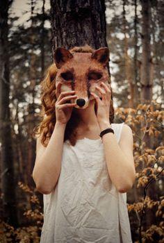 fox mask, woodland, dress up, photography Dreamland, Storyboard, Fox Mask, Natsume Yuujinchou, Animal Masks, Illustrations, Portrait, Mardi Gras, Fairy Tales