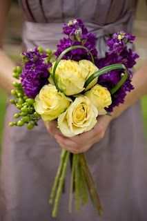 Purple and yellow bouquet- i like the extra green within the bouquet