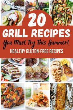 Ready to fire up your grill?  From easy no mess foil packets to juicy burgers, these healthy grill recipes are the perfect way to kick off summer!