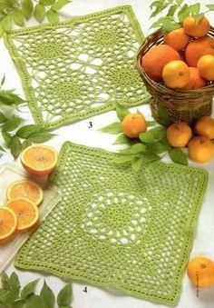 Nice # green # square # crochet # Facebook. Com / share crafts