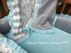 White Gray & Tiffany Blue