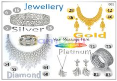 Jewellery Anywhere 1 in 90 - 9x4 - 16 Cues format : Templates Tickets | Tambola Housie