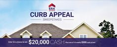 Win $20,000 cash from HGTV Curb Appeal Sweepstakes.                                      #Sweepstakes, #HGTV, #Cash, #Big