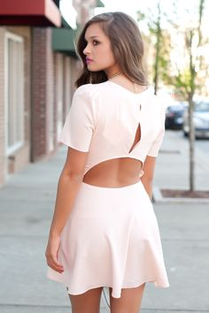 blush cutout dress #swoonboutique