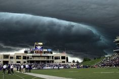 This is a real picture taken during a Kansas State football game in Manhattan, KS.  It was subsequently published in Sports Illustrated.