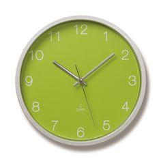 LEMNOS ( レムノス )掛け時計 電波時計 Basic clock グリーン