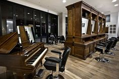 Barber Shop: Located in Birmingham's The Cube development is the new shop of celebrated barber Adee Phelan. At 5,000 square feet the space has been fitted out by artist and designer Ryan McElhinney. This shop's is impressive.