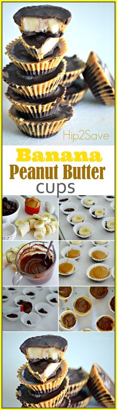 Homemade Banana Peanut Butter Cups. This delicious treat will melt in your mouth. You've got to try this sweet treat out!