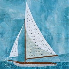 Latest Trend In Embroidery on Paper Ideas. Phenomenal Embroidery on Paper Ideas. Nautical Quilt, Nautical Baby, Paper Embroidery, Butterfly Embroidery, Embroidery Ideas, Landscape Quilts, Foundation Paper Piecing, Quilting Designs, Quilting 101