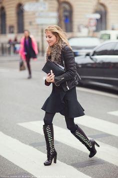 Marina Larroude #streetstyle #fashion