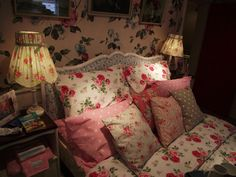Bedroom in the Cath Kidston shop in Chichester.