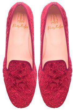 Pretty Loafers Faye Velvet Plum