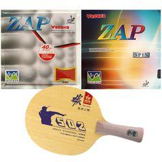 Pro Table Tennis PingPong Combo Racket Sanwei 502E with Yasaka ZAP 40mm  BIOTECH NO ITTF + 5f4a6fde02a0c