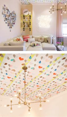 heart photo collage - teen room + ceiling art