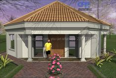 Overall Dimensions- 0 Car GarageArea- Square metres Flat Roof House Designs, House Roof Design, Home Building Design, Home Design Floor Plans, Bungalow House Design, Modern House Design, Building Plans, Round House Plans, My House Plans